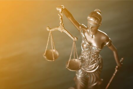 Burden of proof, legal law concept image. Stock Photo