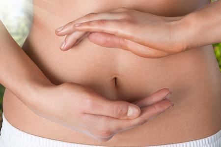 Woman Stomach Ache,health care concept.