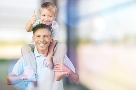 Grandfather with Grandchild