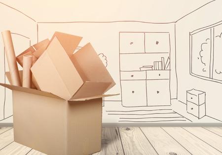 Cardboard Box Stack Banco de Imagens - 91249626
