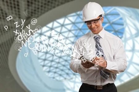 Safety Engineer Closeup Stock Photo