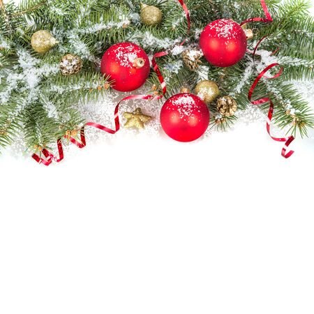 Christmas greenery and ornaments
