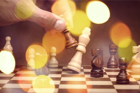 Playing chess - checkmate