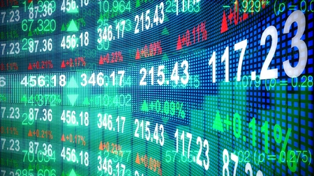 Stock market graph Foto de archivo
