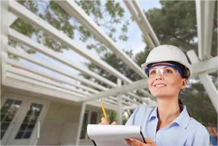 Female Engineer/Inspector Stock Photo