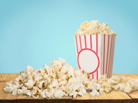 Movie Tickets & Popcorn Isolate Stock Photo