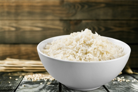 Beans, Lentils, Peas and Grains: Bowl of rice