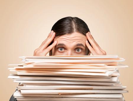 work overload - female Banco de Imagens