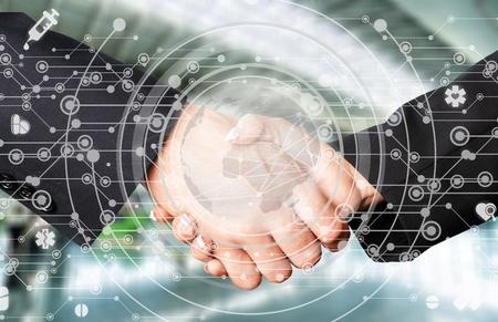 investor businessman handshake