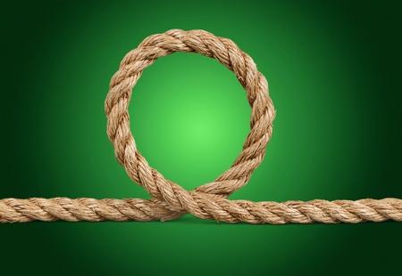 Jute rope isolated on white background Stock Photo