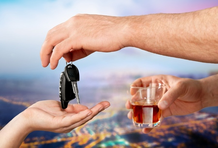 Think of yourself and others - Do not drink when you drive Stock Photo