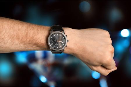 Wrist watch on a wrist