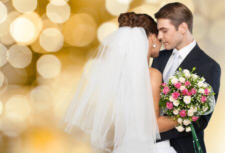 Roze bruiloft portretten
