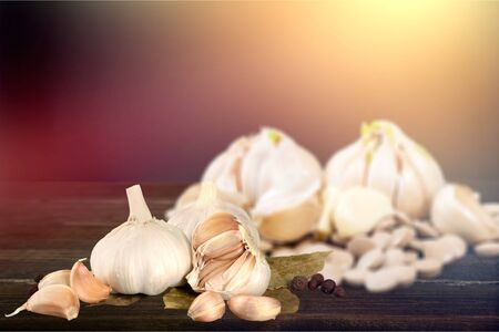 Garlic. Garlic Cloves and Garlic Bulb