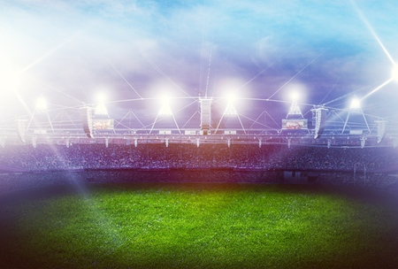 stadium in lights 3D Archivio Fotografico