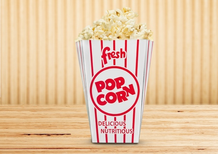 Fresh popcorn Stock Photo