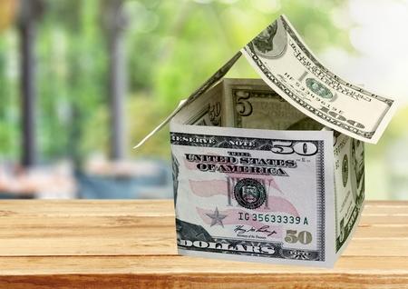 money house made from dollar bills