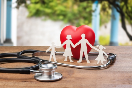 Medical Insurance Concept With Family