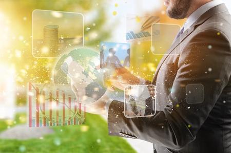 Digital technology application concept 版權商用圖片