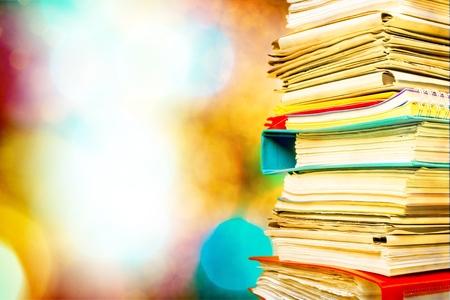 Stack File Folder paperwork