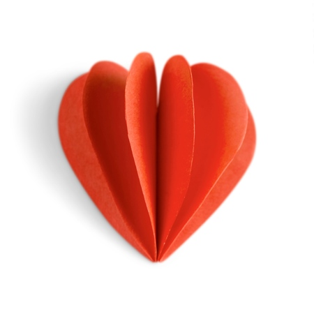 Origami - Paper Heart - Love Concept Isolated
