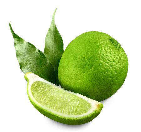 Fresh limes - isolated image