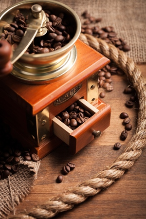 roasted beans. Coffee concept.