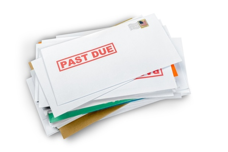 Past Due Envelopes 版權商用圖片 - 99121879