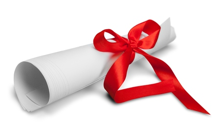 Document with Red Ribbon