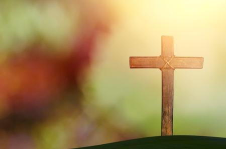 croix sur fond flou Banque d'images