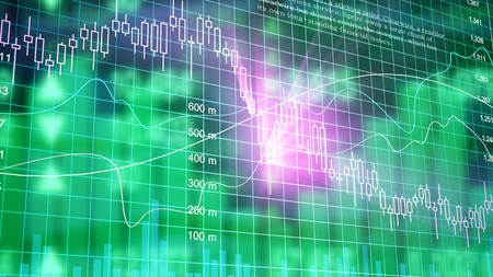 Stock market digital graph chart Stock Photo