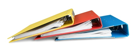 File folders with documents Banque d'images