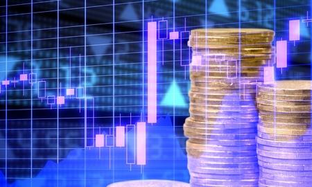 Trade graph concept Stock Photo