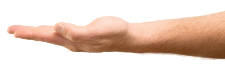 the outstretched hand Stock Photo