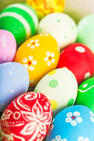 Rough stroked easter eggs Stock Photo
