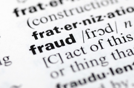 Close Up of Specific Word Fraud in a Dictionary
