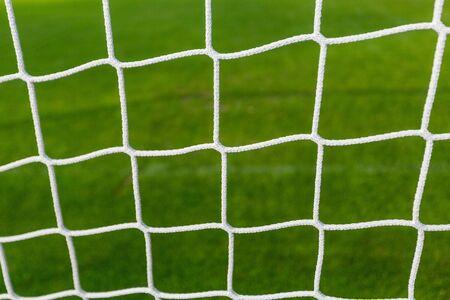 Closeup of a Soccer Net Stock Photo