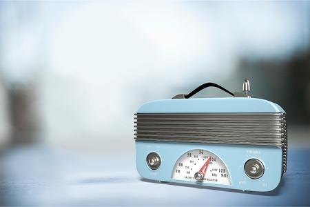radio vintage sur fond