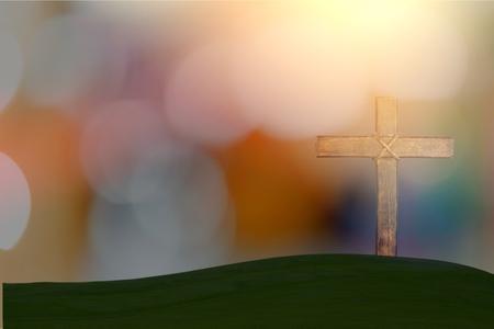 cross on blurry background