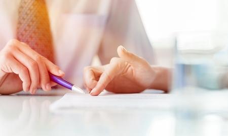 Ðoncept van het bespreken van een businessplan