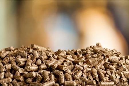 Pellets biomass close up