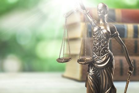 Scales of Justice symbol concept