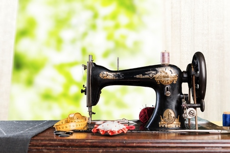 Sewing machine on room