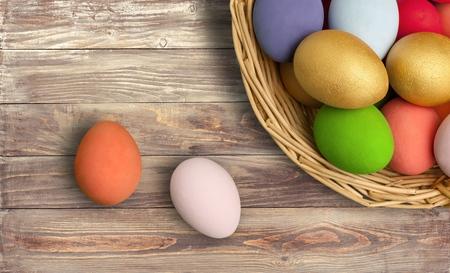 Color easter eggs Reklamní fotografie