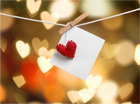 Romantic Valentine memories and card Stock Photo