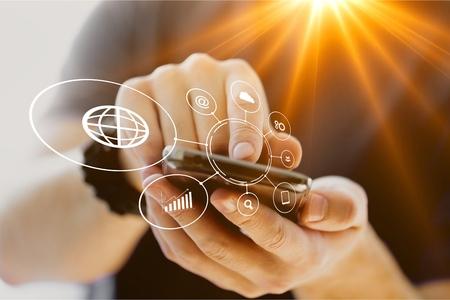 Man hand using smart phone