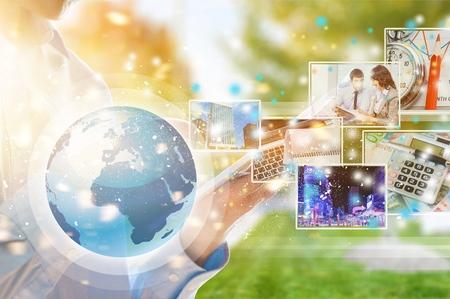 Digital technology application concept Banque d'images