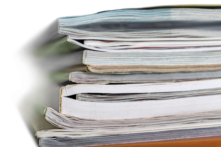 Stack of papers and magazines
