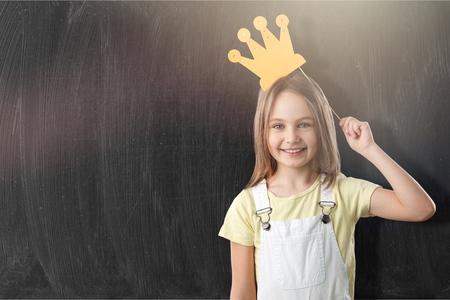 Happy little girl kid