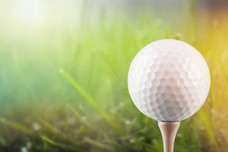 Pallina da golf sull'erba Archivio Fotografico - 94691999